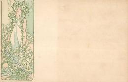 Mucha, Alfons Frau Jugendstil I-II (fleckig) Art Nouveau - Illustrators & Photographers