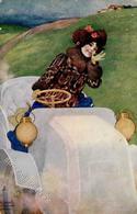 Kirchner, R. Frau Auto  Künstlerkarte 1905 I-II - Kirchner, Raphael