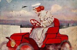 Kirchner, R. Frau Auto Werbung Vacuum B Mobiloil Künstlerkarte I-II (fleckig) Publicite - Kirchner, Raphael