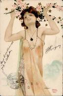 Kirchner, R. Frau Blumen Jugendstil Künstlerkarte 1903 I-II (fleckig) Art Nouveau - Kirchner, Raphael