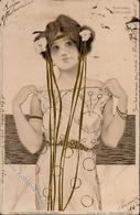 Kirchner, R. Frau Jugendstil Künstlerkarte 1902 I-II (fleckig, Marke Entfernt) Art Nouveau - Kirchner, Raphael