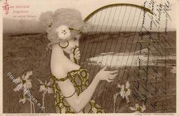 Kirchner, R. Frau Jugendstil Künstlerkarte I-II Art Nouveau - Kirchner, Raphael