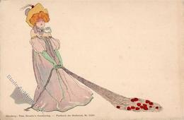 Kirchner, R. Frau Jugendstil TSN-Verlag 5530 Künstlerkarte I-II Art Nouveau - Kirchner, Raphael