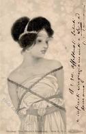 Kirchner, R. Frau Jugendstil TSN-Verlag 71 Künstlerkarte 1901 I-II (fleckig) Art Nouveau - Kirchner, Raphael