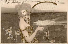 Kirchner, R. Frau Jugendstil TSN-Verlag 99 Künstlerkarte 1901 I-II Art Nouveau - Kirchner, Raphael