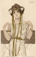 Kirchner, R. Frau Jugendstil TSN-Verlag 99 Künstlerkarte I-II Art Nouveau - Kirchner, Raphael