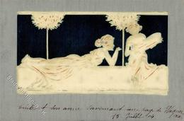 Kirchner, R. Frauen Jugendstil Geprägt Künstlerkarte 1904 I-II Art Nouveau Femmes - Kirchner, Raphael