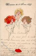 Kirchner, R. Frauen Jugendstil Künstlerkarte 1899 I-II Art Nouveau Femmes - Kirchner, Raphael