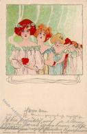 Kirchner, R. Frauen Jugendstil TSN-Verlag 5532 Künstlerkarte 1899 I-II Art Nouveau Femmes - Kirchner, Raphael