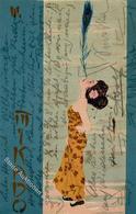 Kirchner, R. Mikado Künstlerkarte 1907 I-II (fleckig) - Kirchner, Raphael