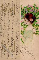 Kirchner, R. Unsigniert Frau Jugendstil  Künstlerkarte I-II Art Nouveau - Kirchner, Raphael