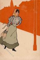 Kirchner, Raphael ? Milchmädchen Künstler-Karte I-II - Kirchner, Raphael