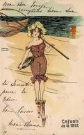 Kirchner, Raphael Enfants De La Mer Künstler-Karte 1903 I-II - Kirchner, Raphael