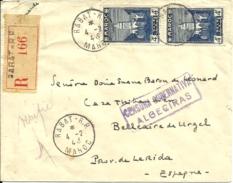 Rec. De RABAT Avec Griffe CENSURA D'ALGECIRAS Pour Bellecaire De URGEL-LERIDA -ESPAGNA - 1943 - - Marokko (1891-1956)