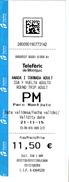 Spain , Espagne , Teleferic De Montjuic Ticket , 2015 , Used - Unclassified