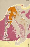 Jugendstil Erotik Frau  Künstlerkarte I-II Art Nouveau Erotisme - Illustrators & Photographers
