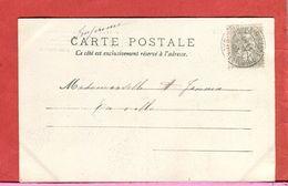 Timbre France Type BLANC 1 C Sur Carte Tarif Imprimé 1903 Oblitération Ouroux Sur Saône Carte Bambins 2  Scans - Marcophilie (Lettres)