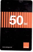 Moldova  , Moldavie  Moldau ,  Prepaid Phonecard - Orange , 2017  , 50 Lei , Paper , Used - Moldova