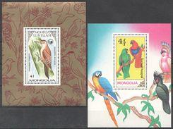 R934 1987,1990 MONGOLIA FAUNA BIRDS 2BL MNH - Perroquets & Tropicaux