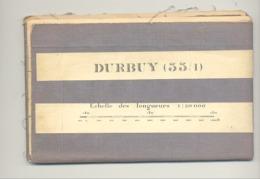 DURBUY - Carte Topographique Militaire Toilée En Couleurs De 1936  , 55 / 10 - 1 /20.000 (b223) - Topographical Maps
