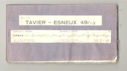 TAVIER - ESNEUX  - Carte Topographique Militaire Toilée En Couleurs 1954 , 49 / 1 - 2 - 1 /20.000 (b223) - Topographical Maps
