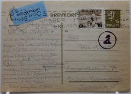 ZENSURPOST Ganzsache Vom 11.06.1943 / Norwegen > Berlin / Mit Rundem Hand-Kontrollstempel - Norway