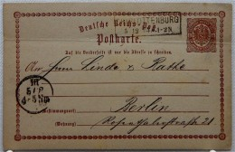POSTKARTE Vom 5.12.1874 - Kastenstempel CHARLOTTENBURG - Covers & Documents