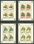R946 2012 DU CONGO FAUNA BIRDS PARROTS 4KB MNH - Perroquets & Tropicaux