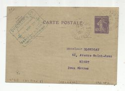 Sur Carte Postale , ENTIER POSTAL , 40c , 1923 , Paris-125 , Rue De La Douane , Quentin & Cie - Entiers Postaux