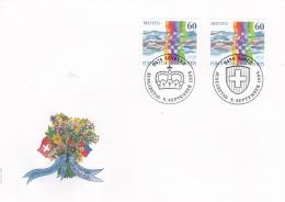 Switzerland & Liechtenstein FDC 1995 Joint Issue - Gemeinschaftausgabe (A540) - Joint Issues