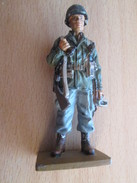 Figurine Métal DEL PRADO Guerre 39/45 65 Mm : SOLDAT USA PARACHUTISTE 1944-45 - Army