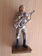 Figurine Métal DEL PRADO Guerre 39/45 65 Mm : FEMME SNIPER URSS 1941 1942 Joli Petit Q ! - Army