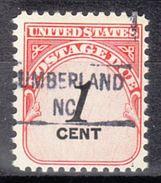 USA Precancel Vorausentwertung Preo, Locals North Carolina, Cumberland 841 - Vereinigte Staaten