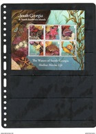 SOUTH GEORGIA,2012,MARINE LIFE,STARFFISH, CRABS, SHEETLET, MNH - British Antarctic Territory  (BAT)