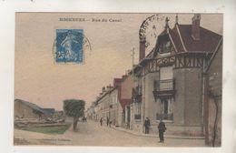 MIGENNES - Rue Du Canal - Carte Colorisée - France