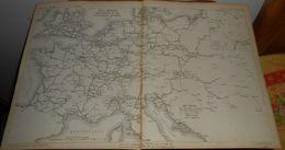 Plan De La Carte Générale Des Chemins De Fer Et Télégraphes électriques Européens. 1858 - Public Works