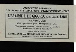 THEME RELIGION  CARNET DE LA FEDERATION NATIONALE  ENSEIGNEMENT LIBRE - Commemorative Labels