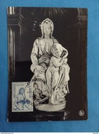 Cartolina Michelangelo Buonarroti - Madonna Brugge - Con Francobollo Belgique  Belgie - Sculture