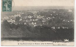 92   SCEAUX VUE   PANORAMIQUE PRISE DE ROBINSON   1908+ TIMBRE TAXE  TBE - Sceaux