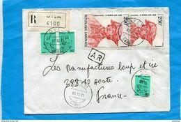 MARCOPHILIE-lettre-REC-AR - GABON-cad OYEM- 1981>-Françe-5 Stamp N°A 210 DURER- - Gabon (1960-...)