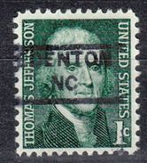 USA Precancel Vorausentwertung Preo, Locals North Carolina, Edenton 852 - Etats-Unis
