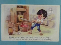 Sels De Potasse D'Alsace Dans Mes Caves Le Vin Coule à Flots... - Publicité