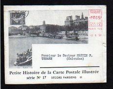 1958 N°17 Histoire De La Carte Postale,EMA Env.illustrée + Dépliant,Paris Et Décors Parisiens,métro,Paris Vécu,etc - Evénements