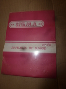 1930   Vingt (20) Feuilles De Buvard Unis ,neufs  , Marque SIGMA Sous Blister Céllophane - Blotters