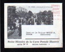 1958 N°17 Histoire De La Carte Postale,EMA Env.illustrée + Dépliant,Paris Et Décors Parisiens,Luna Park,Guignol,etc - Evénements