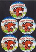 5 Etiquettes De Fromage LA VACHE QUI RIT - Cheese