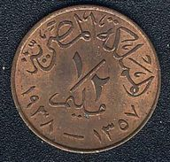 Ägypten, 1/2 Millieme 1938, UNC! - Egypt