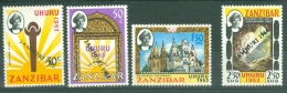 Zanzibar: 1964   Independence 'Jamhuri 1964' (handstamped) OVPT     SG410-413     MH - Zanzibar (1963-1968)