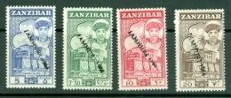 Zanzibar: 1964   Sultan - Pictorial 'Jamhuri 1964' OVPT (handstamped) Set    SG394-409     MH - Zanzibar (1963-1968)