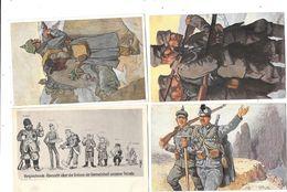 10406 - Lot De 4 CPA Illustrateur ALLEMAGNE, Militaria - Illustrateurs & Photographes